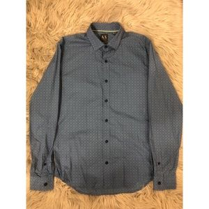 Mens Armani Exchange Blue Long Sleeve Button up!!